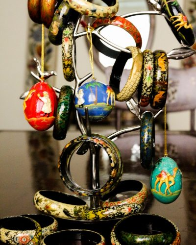Papier Machie Bangles and Easter Egg